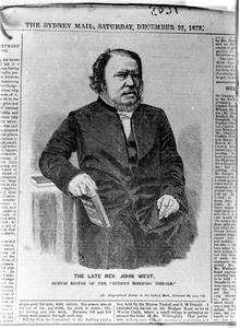 The late Rev. John West, Senior Editor of the Sydney Morning Herald.