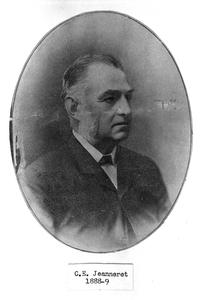 Alderman Charles Edward Jeanneret (1886–1887, 1887–1898).