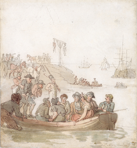 Convicts embarking for Botany Bay.