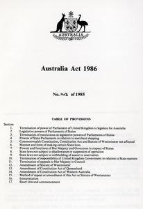 The Australian Act, 1986
