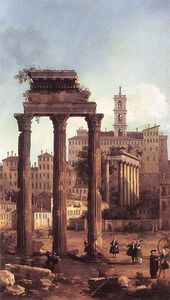 Rome: Ruins of the Forum, Looking towards the Capitol 1742