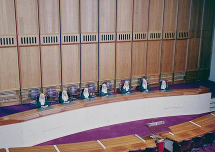 Full bench of High Court justices sitting in the High Court of Australia, 1987