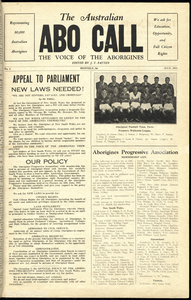 The Australian Abo Call: The Voice of the Aborigines, July 1938.