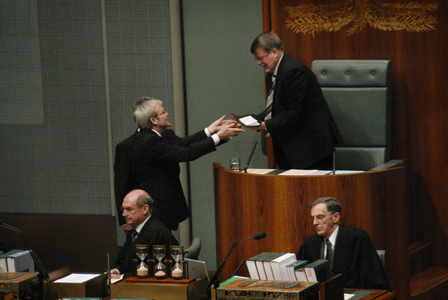 Coolaman presented on behalf of the Stolen Generation to Mr Harry Jenkins by Prime Minister Kevin Rudd and Leader of the Opposition Brendan Nelson, 13 February 2008.