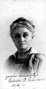 Edith Cowan was the first woman elected to any Australian Parliament.