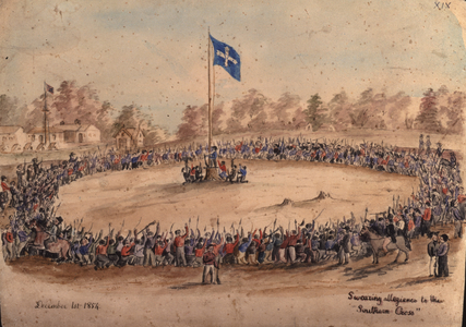 Swearing allegiance to the 'Southern Cross', Charles Alphonse Doudiet, 1854.