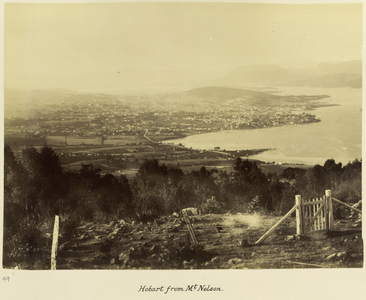 Picture of Hobart from Mt Nelson, Tasmania, c.1895.