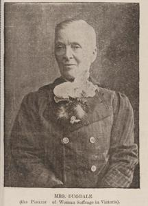 Henrietta Dugdale, 1895. Photo courtesy of Mitchell Library-State Library of New South Wales.