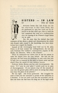 The jubilee book of the Law School of the University of Sydney, 1890–1940, page 62.