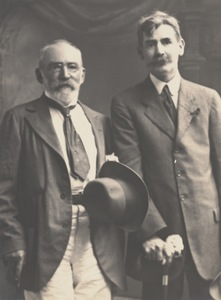 Portrait of J.F. Archibald and Henry Lawson, Sydney, September 1918.