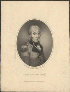 Colonel David Collins. Courtesy National Library of Australia
